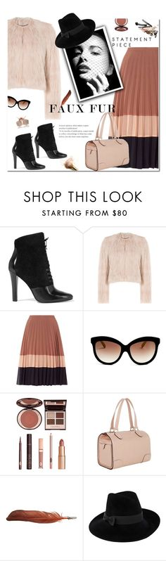 """""""Faux Fur Statement Piece"""" by yummymummystyle ❤ liked on Polyvore featuring 3.1 Phillip Lim, RED Valentino, Miss Selfridge, Italia Independent, Charlotte Tilbury, Valextra, Ann Demeulemeester, Mademoiselle Slassi, Loushelou and fauxfurcoats"""