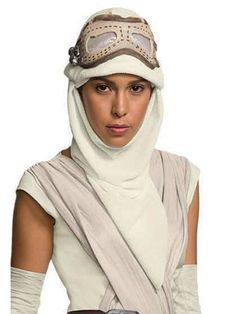 Check out Star Wars: The Force Awakens - Rey Eye Mask with Hood For Adults | Wholesale Halloween Costumes from Wholesale Halloween Costumes