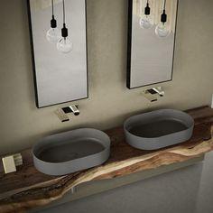Lavabo quadrato 40 colorato Arenaria Shui Comfort - Lavabo colorato da bagno Ceramica Cielo