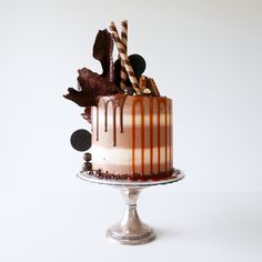 butterscotch mudcake + bailey's mudcake + butterscotch caramel sauce + brown butter icing + chocolate buttercream frosting