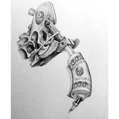 Cool Tattoo Guns Drawings Trmfp - Tattoo and Piercing