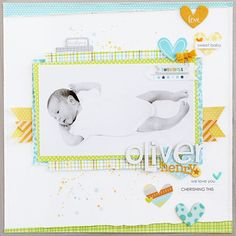 Bella Blvd Cut Baby Boy collection. Oliver Henry layout by creative team Gail Lindner.