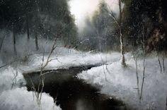Winter Landscapes by Russian Artist Igor Medvedev ~ Blog of an Art Admirer