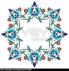 Ottoman motifs design series seventy two
