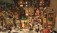 Upper East Side Christmas village idea