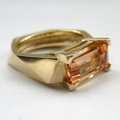 Why do F&L love Melanie Eddy? Because of the distinctive, crisp edges and unusual shapes of her engagement ring creations! View Melanie's best work here. Topaz Jewelry, Jewelry Rings, Silver Jewelry, Jewellery, Designer Engagement Rings, Gold Engagement Rings, Engagement Ring Settings, Imperial Topaz, Rose Gold Diamond Ring