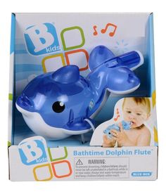 Rich And Magnificent Baby Bath Toy Floating Dolphin Water Spray Kids Bathtub Swimming Toy blue