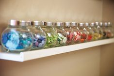 cute way to organize buttons for crafts