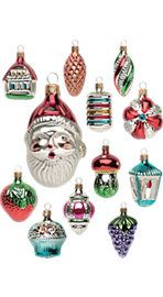 $20 Vermont Country store glass ornament set