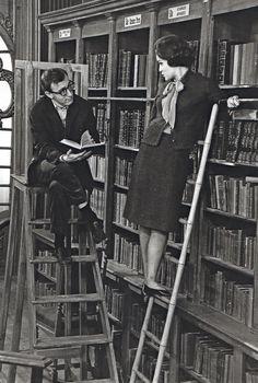Woody Allen and Romy Schneider (Hollywood)(BB)~