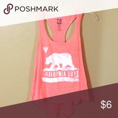 California love razor back Great condition. Perfect for casual or exercise Tops Tank Tops