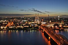 Panoramablick über Köln // Panorama of the City of Cologne Photo: André M. Hünseler // thinkingpixels.de