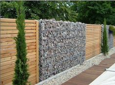 wire mesh and stone walls - Google Search