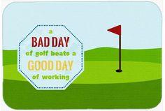 A Bad Day At Golf Kitchen/Bath Mat