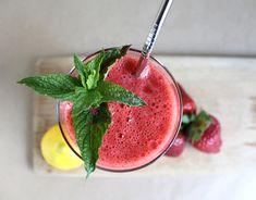 green tea strawberry lemonade smoothie