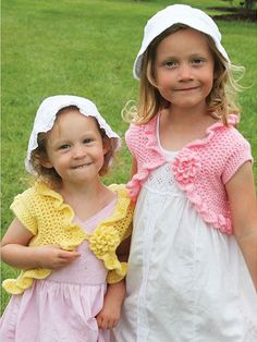 Ruffled Bolero...reminds me of my sister and I at Easters many years ago!