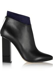 Jimmy ChooLegion suede-trimmed leather ankle boots