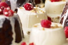 Give the traditional elements of Christmas a modern twist with these elegant ice cream desserts.
