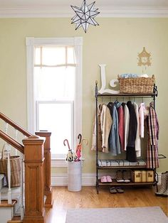Dressed-Up Clothing Rack | 13 Clever Winter Gear Organization Ideas