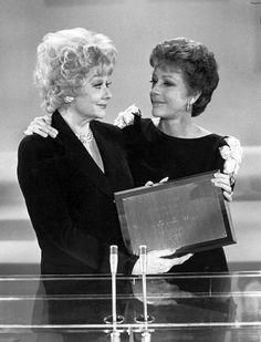 Lucille Ball and Carol Burnett.