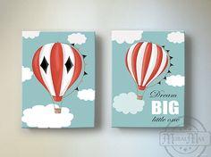 Hot Air Balloon Wall Art Dream Big Modern Aviation by MuralMAX