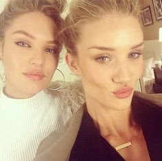 These megamodels turned up the heat with sexy lined eyes and puckered pouts. Source: Instagram user rosiehw