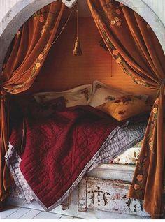 dream nook beds from Pinterest! Hmm!! cute!!