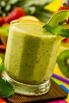Rezept für einen gesunden Grünen Smoothie mit Kiwi. www.ihr-wellness-magazin.de
