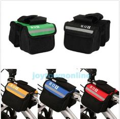 HOT~ Bicycle Bike Cycling Frame Pannier Saddle Front Tube Bag Double Side Pouch