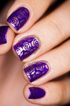 *wabbit-bunny*: Roses are Violet #orly #nailart