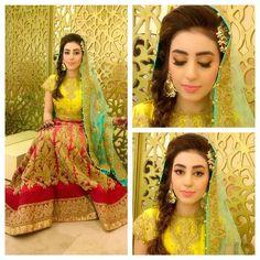 """#bride #barsaalwedding #hair #makeup #wajidkhansalon #styling @wajidkhanstylist #outfit @mminsider #lookbook #instagram #followers #bollywood #mac…"""