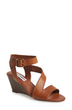 Steve Madden 'Stipend' Wedge Leather Sandal (Women) available at #Nordstrom