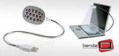 51% Dto. ¡Que la oscuridad ya no sea un problema! Lámpara USB de 12 LED para Portátiles con brazo flexible de Tienda Q