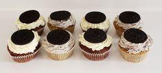 oreo cupcakes Oreo Cupcakes, Mini Cupcakes, Frosting, Cheesecake, Desserts, Recipes, Food, Tailgate Desserts, Deserts