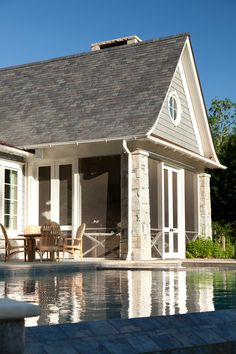 Screened in porch. Dream Screened-in Porch Ideas. Screened-in Porch by pool. Screened-in Porch exterior. Screened-in Porch design T. Interiors by Mary McWilliams from Mary Mac Screened Porch Designs, Screened In Porch, Traditional Interior, Traditional House, Building A Porch, House With Porch, Luxury Interior Design, House Painting, House Colors