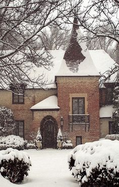 Snow Scenes, Winter Scenes, Interior Exterior, Exterior Design, Beautiful Homes, Beautiful Places, Foto Art, Winter Garden, My Dream Home