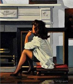 View Alone Again by Jack Vettriano on artnet. Browse upcoming and past auction lots by Jack Vettriano. Jack Vettriano, Arte Pulp Fiction, Fabian Perez, Women Smoking, Hippie Art, Art Graphique, Pulp Art, Pin Up Art, Erotic Art