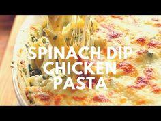 Spinach Dip Chicken Pasta Recipe - YouTube