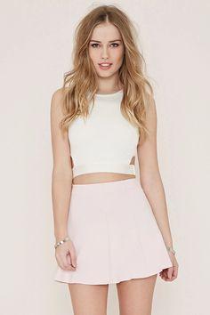 Knit Skater Skirt #thelatest