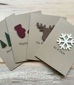 Rustic Holiday Card Set, Set of 8 Christmas Cards, Assorted .- Rustic Holiday Card Set, Set of 8 Christmas Cards, Assorted Holiday Christmas Cards Rustic Christmas Card Set of 8 Christmas Cards Different Homemade Christmas Cards, Christmas Tree Cards, Christmas Gift Tags, Homemade Cards, Christmas Holidays, Happy Holidays, Cricut Christmas Cards, Diy Holiday Cards, Simple Christmas Cards