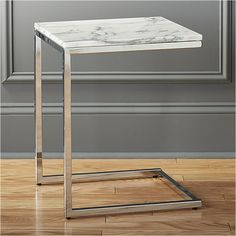 ". 16""Wx16""Dx19.75""H smart marble top c table"