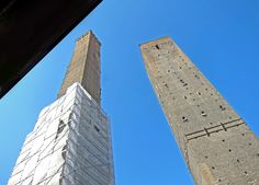 The 2 Towers by Day Bologna, Towers, Italy, Building, Travel, Italia, Viajes, Tours, Buildings