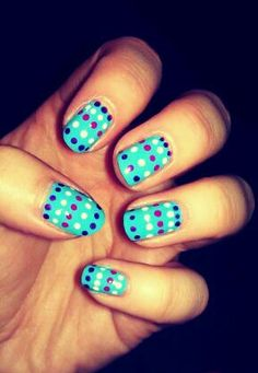 polka dots on fingernails are all things I love