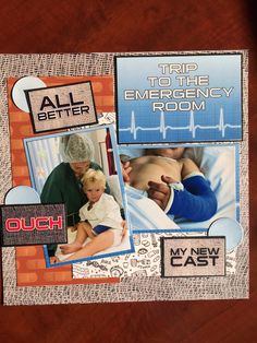 Scrapbook page made from the ER, a collection by Reminisce.
