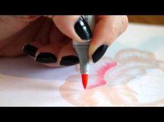 Pintando uma flor com o Kit Copic Floral Favorites 1 - YouTube