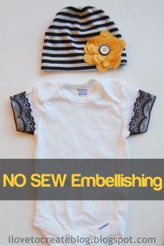 iLoveToCreate Blog: No Sew Embellishing