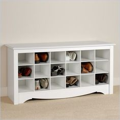 This shoe cubby would look SOoooo much better than my wire cubes in my entry...