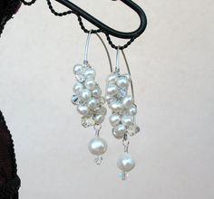 Fresh Water Pearl Cluster Earrings by SuellensCreations on Etsy, $24.00