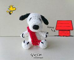 Patrón gratis amigurumi de Snoopy para llavero