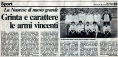 SCRIVOQUANDOVOGLIO: NUORESE:GRINTA E CARATTERE LE ARMI VINCENTI (16/11...